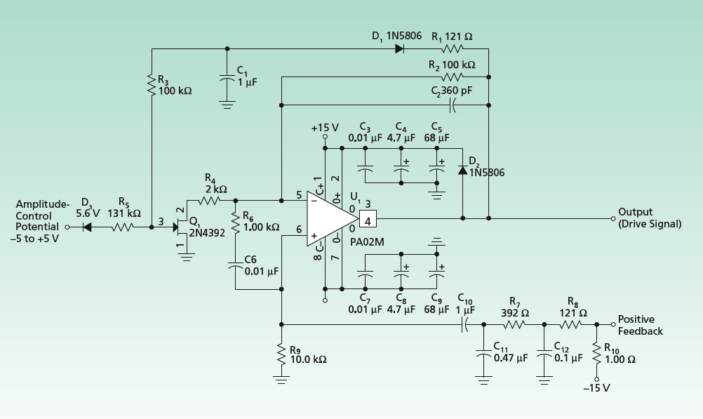 circuit for driving piezoelectric transducers tech briefs