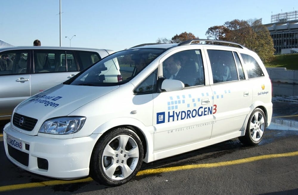 Image of GM's Hydrogen 3 fuel cell vehicle.