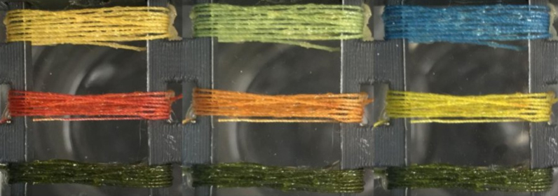 Sensing threads from Tufts university that detect gases and pollutants including acid and ammonia