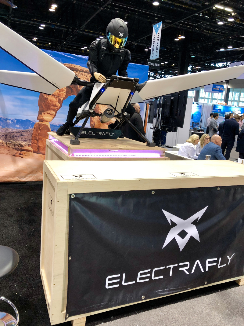 a demo of the ElectraFly at AUVSI XPONENTIAL 2019